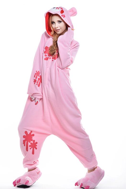Кигуруми Кровавый мишка с когтями розовый купить всего за 1950 руб - заказать  пижаму в интернет-магазине недорого! 7fc02972eac2a