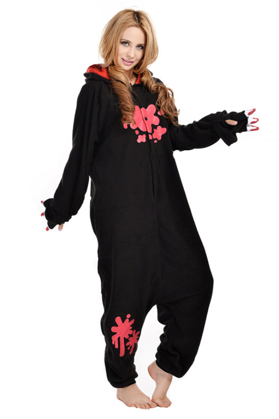 Кигуруми Кровавый мишка с когтями черный купить всего за 1950 руб - заказать  пижаму в интернет-магазине недорого! 85933595539f0
