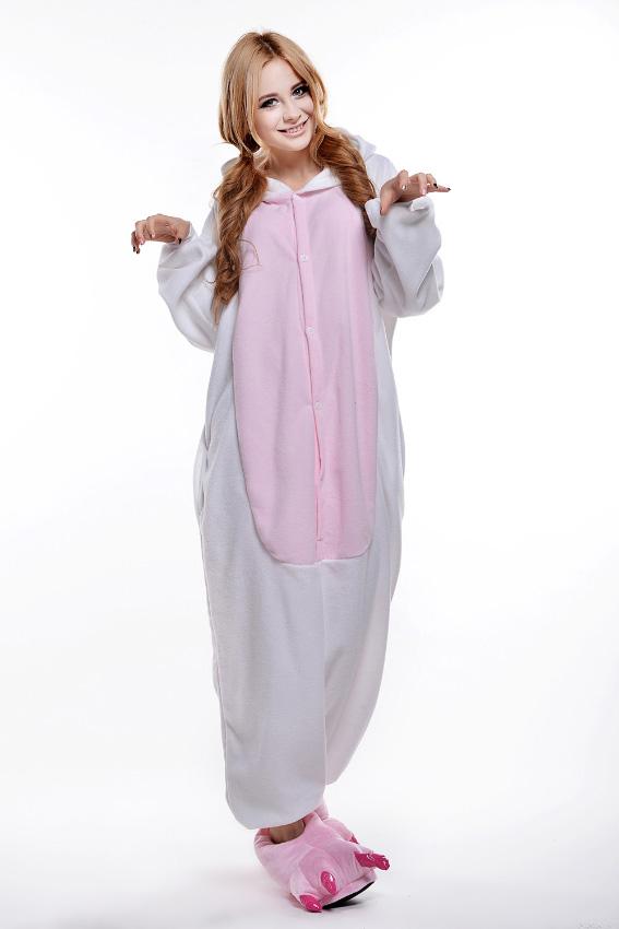 Кигуруми Кот белый с розовым купить всего за 1950 руб - заказать пижаму в  интернет-магазине недорого! f7e05a665e7da