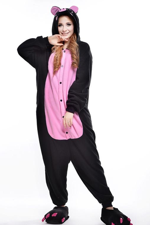 Кигуруми Свинка черная с розовым купить всего за 1950 руб - заказать пижаму  в интернет-магазине недорого! 36a4d0bcfe97c